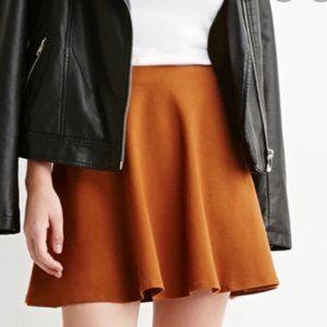 Forever 21 Camel Brown Mini Skater Skirt sz Small
